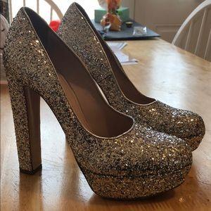 Miu Miu sparkle heels